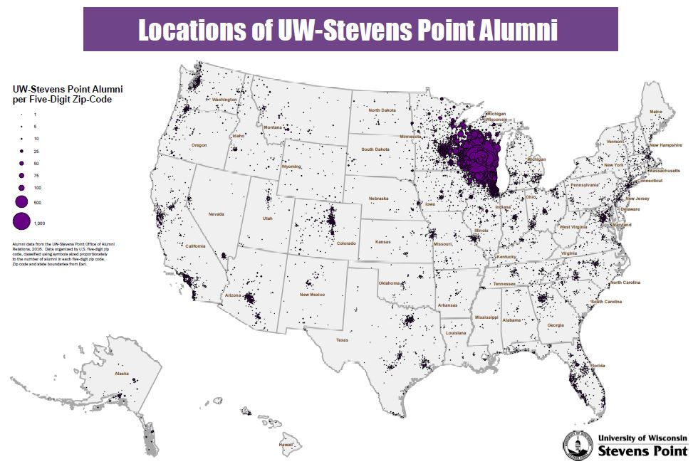 Stevens Point Campus Map.Alumni Where Are They Now